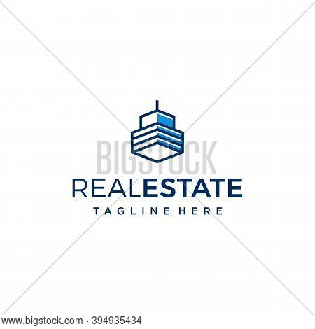Real Estate Logo. Building Skyscrapers Property Agent. Modern Simple Minimalist. Branding For Real E
