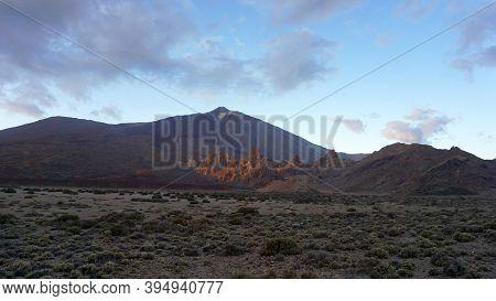 Teide National Park, A View Of Volcano Teide, Tenerife, Canary Islands, Spain