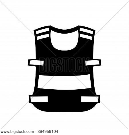 Wear High Visibility Clothing Black Icon,vector Illustration, Isolated On White Background Label. Ep