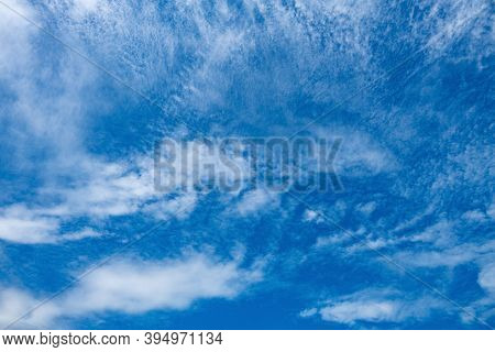 Beautiful Blue Sky With White Clouds In A Noon Time