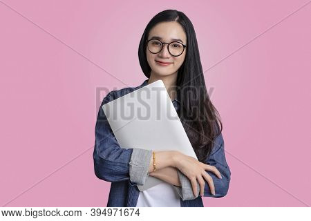 Beautiful Young Asian Woman Using Digital Tablet Computer , Education Or Shopping Online Concept