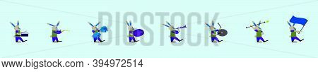 Set Of Rabbit Marching Band Design Template With Various Models. Isolated Modern Vector Illustration