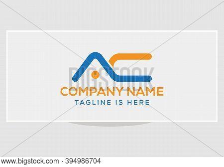 Creative Ac Business Logo Vector Template. Simple Ac Letter Logo.