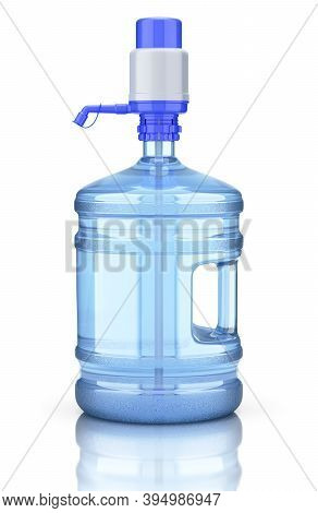 Water Dispenser Bottle With Plastic Hand Pump - 3d Illustration