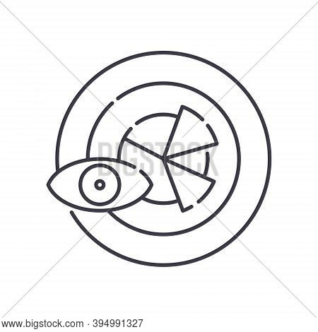Predictive Analytics Icon, Linear Isolated Illustration, Thin Line Vector, Web Design Sign, Outline
