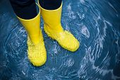 rubber boots in the water poster