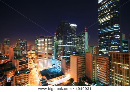 Makati Skyline At Night