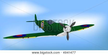 British Green Raf Ww2 Spitfire