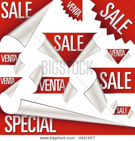 Sale And Venta Labels And