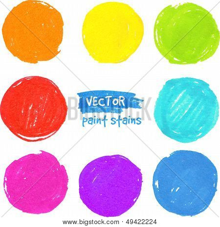 Rainbow colors vector paint stains. This is file of EPS10 format. poster