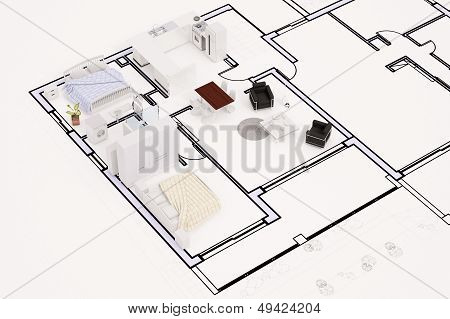 Topview Of Construction Plan