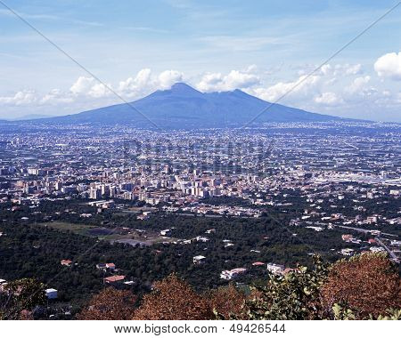 Mount Vesuvius (Vesuvio) Nr. Naples Campania Italy Europe poster