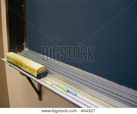 Chalkboard With Chalk