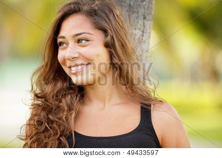 Attractive teenager in the park