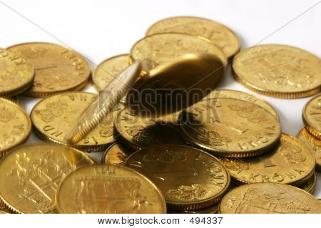 Gold Coins In Motion