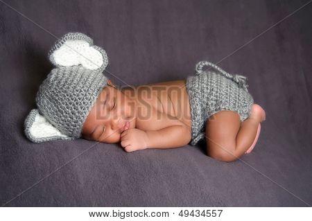 Newborn Baby Boy in an Elephant Costume