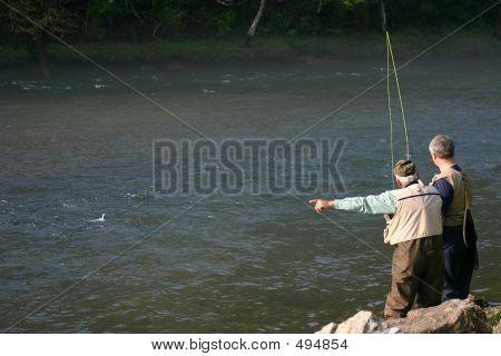 Senior Teaching Fishing