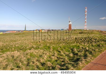 Helgoland Landscape With Lighthouse
