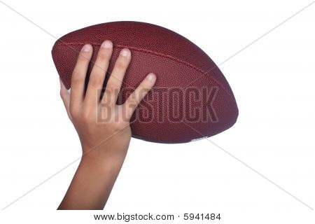 Football Hand Isolated
