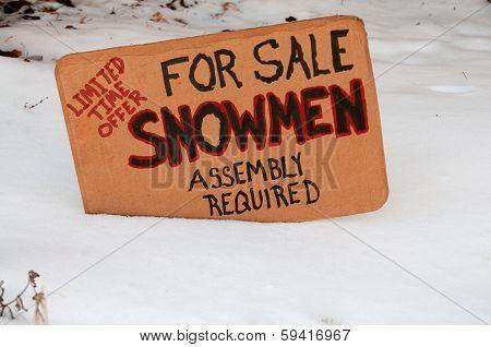 Snowmen For Sale