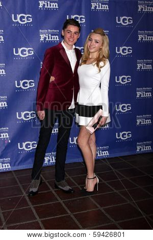 SANTA BARBARA - FEB 1:  Spencer List, Peyton List at the SBIFF Honors Cate Blanchett as Performer of the Year at Arlington Theater on February 1, 2014 in Santa Barbara, CA