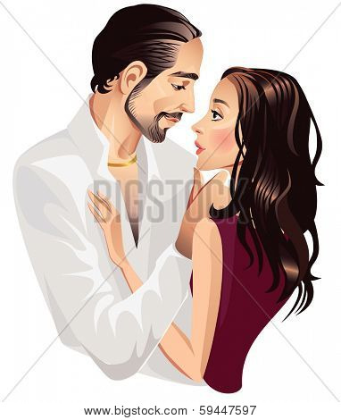 loving couple men and woman
