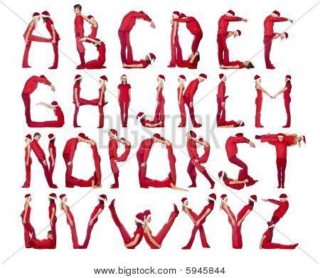 Das Alphabet von Menschen gebildet.