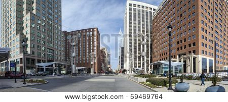 downtown city center of raleigh north carolina poster