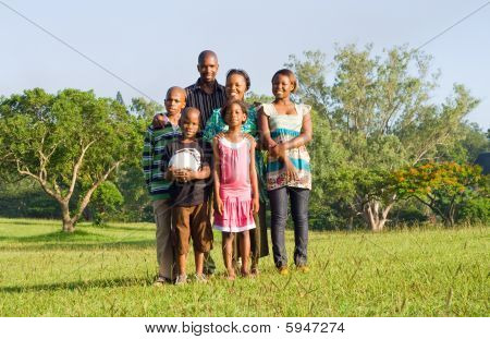Happy african family