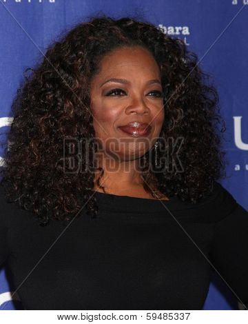 SANTA BARBARA - FEB 5:  Oprah Winfrey at the Santa Barbara International Film Festival Honors Oprah Winfrey at Arlington Theater on February 5, 2014 in Santa Barbara, CA