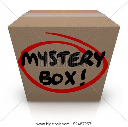 Mystery Box Cardboard Package Mysterious Contents