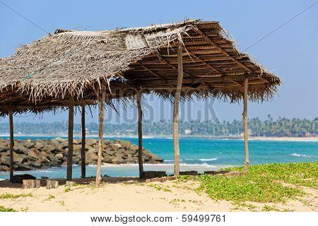 summerhouse on ocean shore