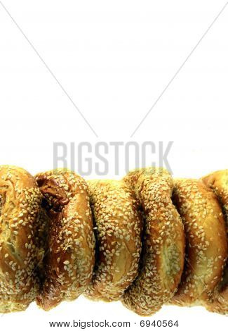 Row Of Bagels