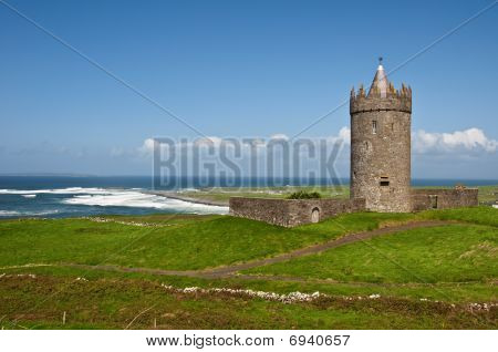 Old Irish Castle In The West Of Ireland