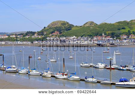 Conwy Harbour in North Wales