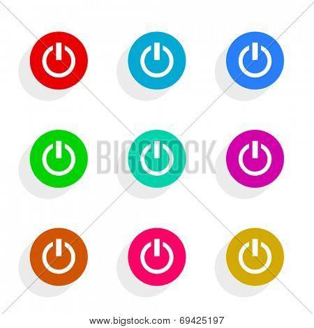 power flat icon vector set