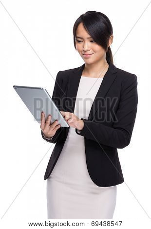 Businesswoman use digital tablet