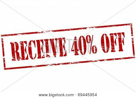 Receive Fourty Percent Off