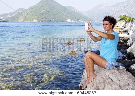 Gril With Cellphone
