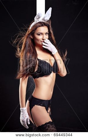 picture of seductive woman in sexy lingerie