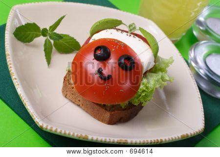 Sandwich With Mozzarella.