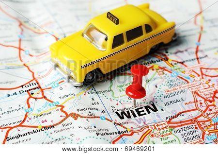 Wien ,austria Map Taxi