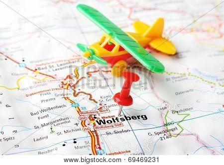 Wolfsberg,austria Map Airplane