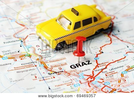 Graz ,austria Map Taxi