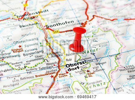 Oberstdorf ,austria Map