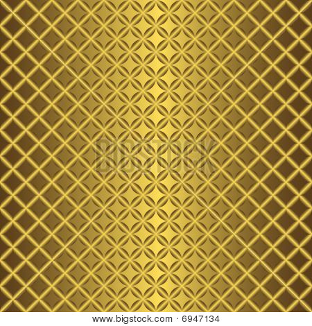 Golden abstract seamless pattern (vector)