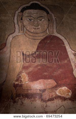 Buddha Fresco On Wall