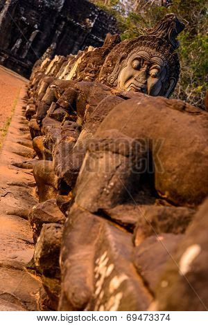 Faces Of South Gate, Angkor Thom, Cambodia