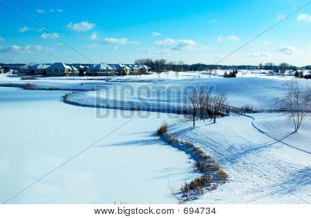 Snow On Golf Course