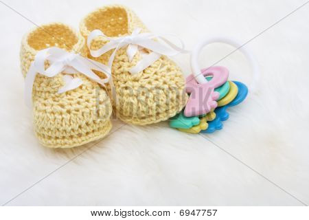 Yellow Baby Booties